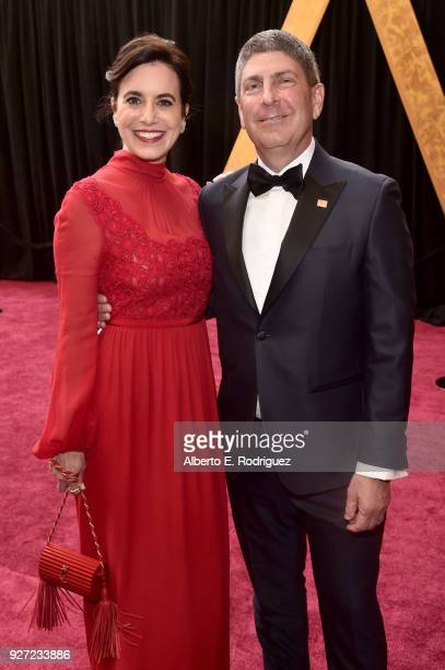 Laura Shell and Jeff Shell attend the 90th Annual Academy Awards at Hollywood Highland Center on March 4 2018 in Hollywood California