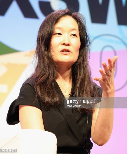 Laura Shin speaks onstage at Why Etherium is Going to Change the World during SXSW at Austin Convention Center on March 9 2018 in Austin Texas