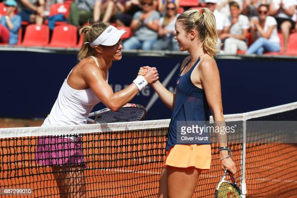 Laura Siegemund of Germany after against Katharina Hobgarski of Germany in the first round during the WTA Nuernberger Versicherungscup on May 23 2017...