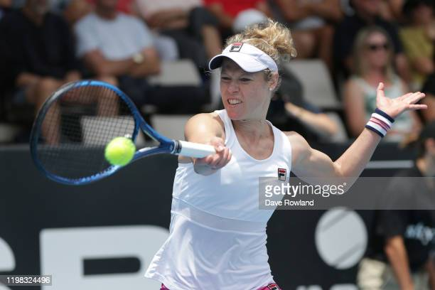 Laura Siegemund of Germany during her match against Cori Gauff of the USA during day four of the 2020 Women's ASB Classic at ASB Tennis Centre on...
