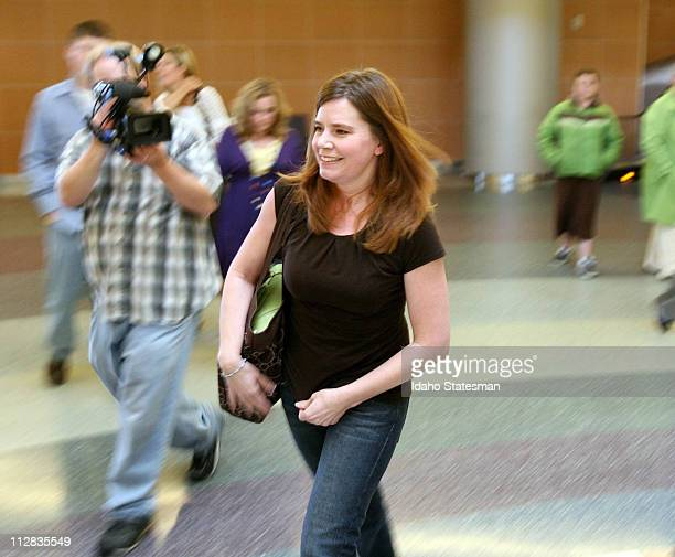 Laura Silsby of Meridian Idaho arrives at the Boise airport on Tuesday May 18 2010 after spending 3 1/2 months behind bars in Haiti She was convicted...
