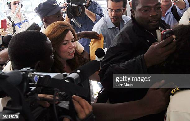 Laura Silsby the head of New Life Children's Refuge accused of child trafficking is escorted into a court hearing February 4 2010 in PortauPrince...