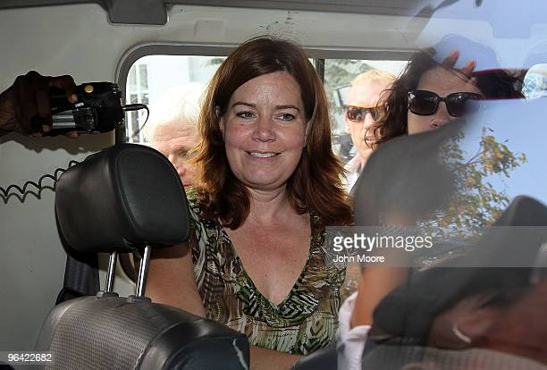 Laura Silsby the head of New Life Children's Refuge and another member of the group Charisa Coulter leave a court hearing February 4 2010 after being...