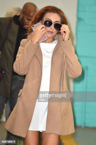 Laura Simpson seen at the ITV Studios after an interview on the This Morning show on September 14 2017 in London England
