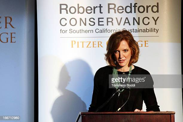 Laura Skandera Trombley attends the Pitzer College Names New Conservancy honoring Robert Redford held at the Los Angeles Press Club on November 19...