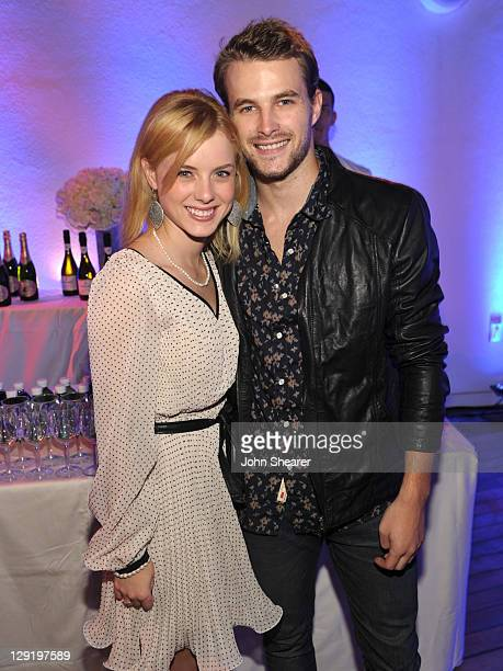 Laura Slade Wiggins and James Preston attend the GUESS By Marciano VOGUE 2011 Holiday Collection Debut at Mr C Beverly Hills on October 13 2011 in...