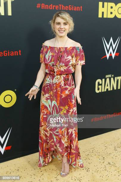 Laura Slade Wiggins arrives to HBO World Premiere of Andre The Giant held at ArcLight Cinerama Dome on March 29 2018 in Hollywood California