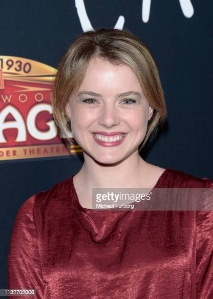 Laura Slade Wiggins attends the Los Angeles opening night performance of Cats at the Pantages Theatre on February 27 2019 in Hollywood California