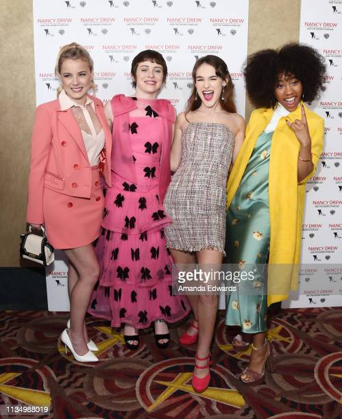 Laura Slade Wiggins Sophia Lillis Mackenzie Graham and Zoe Renee arrive at the World Premiere of Nancy Drew And The Hidden Staircase at AMC Century...