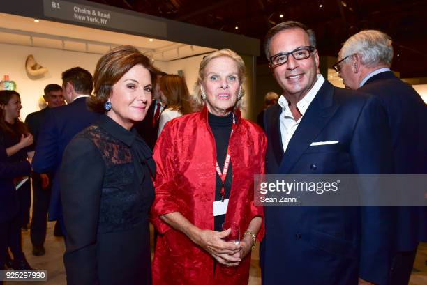 Laura Slatkin Dale J Burch and Harry Slatkin attend The Art Show Gala Preview at Park Avenue Armory on February 27 2018 in New York City