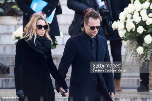 Laura Smet and David Hallyday during Johnny Hallyday's funeral at Eglise De La Madeleine on December 9 2017 in Paris France France pays tribute to...
