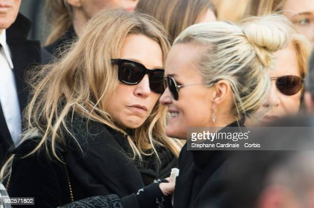 Laura Smet and Laeticia Hallyday during Johnny Hallyday's funeral at Eglise De La Madeleine on December 9 2017 in Paris France France pays tribute to...