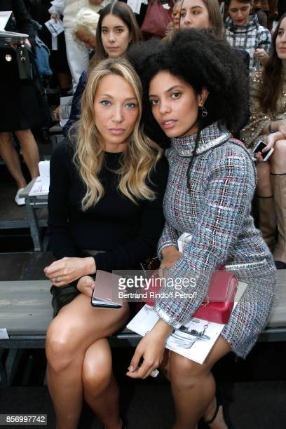 Laura Smet and Lisa Kainde Diaz attend the Chanel show as part of the Paris Fashion Week Womenswear Spring/Summer 2018 on October 3 2017 in Paris...