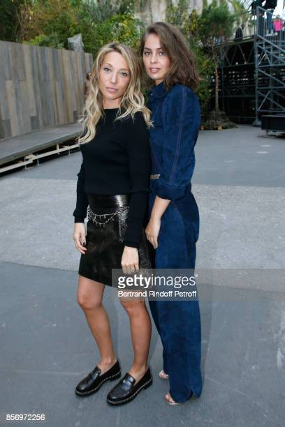 Laura Smet and MarieAnge Casta attend the Chanel show as part of the Paris Fashion Week Womenswear Spring/Summer 2018 on October 3 2017 in Paris...