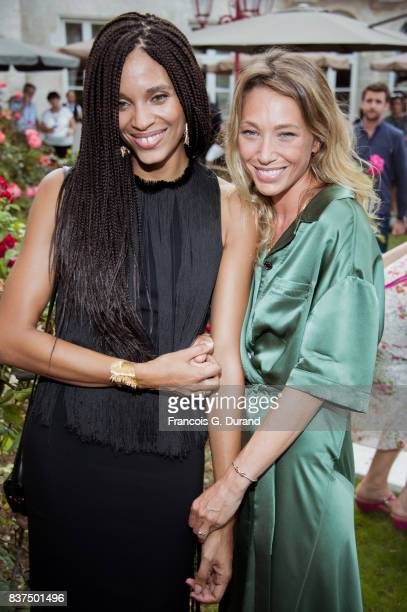 Laura Smet and Stefi Celma attend the 10th Angouleme French-Speaking Film Festival on August 22, 2017 in Angouleme, France.