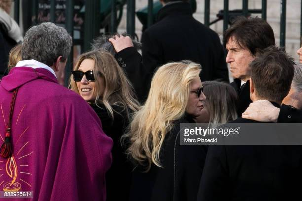 Laura Smet and Sylvie Vartan are seen during Johnny Hallyday's funerals at Eglise De La Madeleine on December 9 2017 in Paris France France pays...