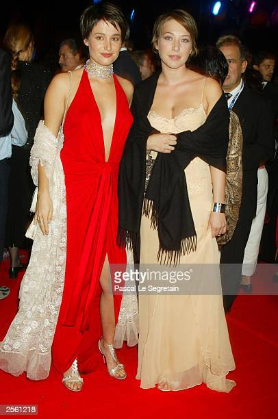 Laura Smet daughter of French singer Johnny Hallyday and Actress Marie Gillain attend a tribute to Daniel Toscan Du Plantier October 4 2003 at the...