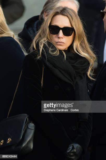 Laura Smet during Johnny Hallyday's Funeral at Eglise De La Madeleine on December 9 2017 in Paris France France pays tribute to Johnny Hallyday the...