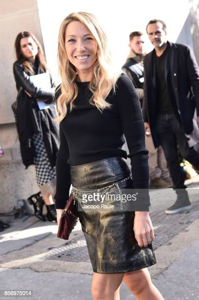 Laura Smet is seen arriving at Chanel show during Paris Fashion Week Womenswear Spring/Summer 2018on October 3 2017 in Paris France
