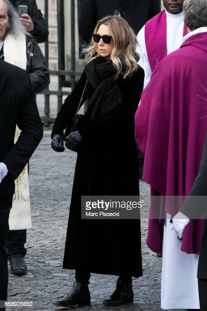 Laura Smet is seen during Johnny Hallyday's funerals at Eglise De La Madeleine on December 9 2017 in Paris France France pays tribute to Johnny...