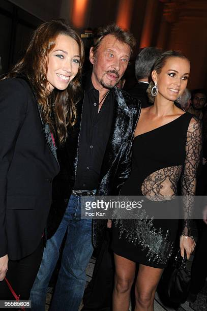 Laura Smet Johnny Hallyday Laeticia Hallyday attend Les Photographes Pour Patrick Demarchelier Party at the Petit Palais September 29 2008 in Paris...