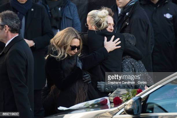 Laura Smet Joy Hallyday Laetitia Hallyday David Hallyday and Jade Hallyday during Johnny Hallyday's Funeral at Eglise De La Madeleine on December 9...
