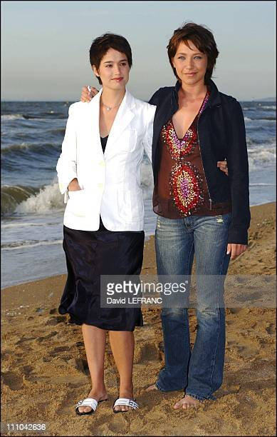 Laura Smet Marie Gillainat the Cabourg Romantic Film Festival in Cabourg France on June 13 2003