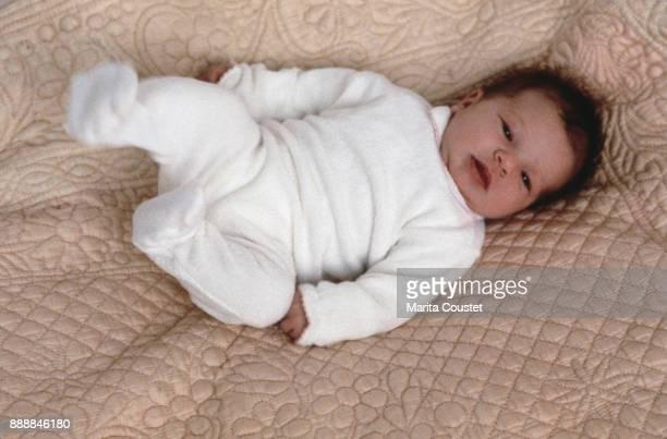 Laura Smet, newborn daughter of Johnny Hallyday and Nathalie Baye, 24th November 1983