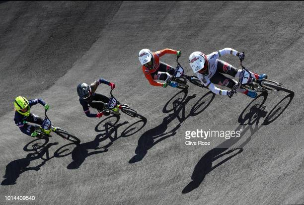 Laura Smulders of the Netherlands Merel Smulders of the Netherlands Camille Maire of France and Mathilde Doudoux of France compete in the Women's BMX...
