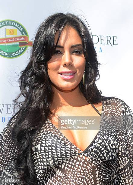 Laura Soares arrives to the 4th Annual Alex Thomas Celebrity Golf Weekend Pool Party hosted by NFL's Jacoby Jones of the Baltimore Ravens at...