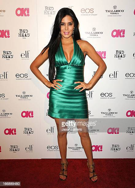 Laura Soares attends OK Magazine's annual So Sexy party at SkyBar at the Mondrian Los Angeles on April 17 2013 in West Hollywood California