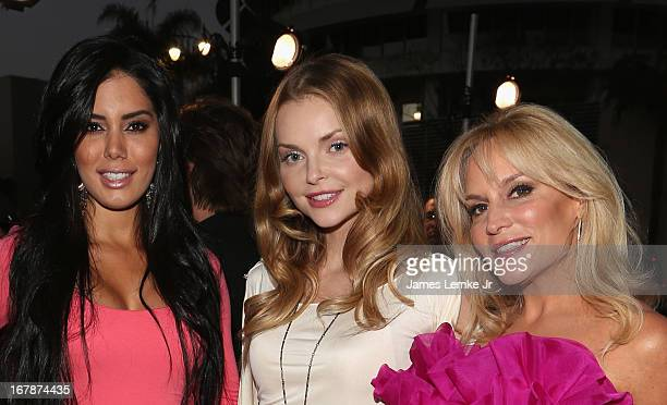 Laura Soares Izabella Miko and Stacey Jackson attend the Official Launch Party Of Stacey Jackson's Debut Album Benefiting Breast Cancer Charities of...