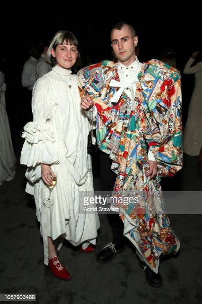 Laura Spence and Patrick DiCaprio attend the CFDA / Vogue Fashion Fund 15th Anniversary Event at Brooklyn Navy Yard on November 5 2018 in Brooklyn...