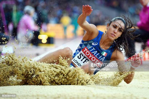 Laura Strati of Italy competes in the Women's Long Jump qualification during day six of the 16th IAAF World Athletics Championships London 2017 at...