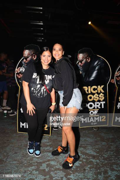 Laura Stylez and Megan Ryte attend Rick Ross Port Of Miami 2 Album Release Celebrationat Villain on August 8 2019 in New York City