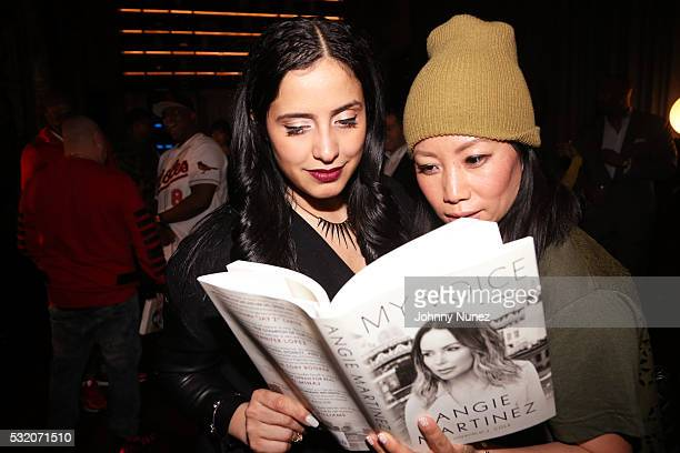 Laura Stylez and Miss Info attend the Angie Martinez My Voice A Memoir Book Launch Party on May 17 2016 in New York City