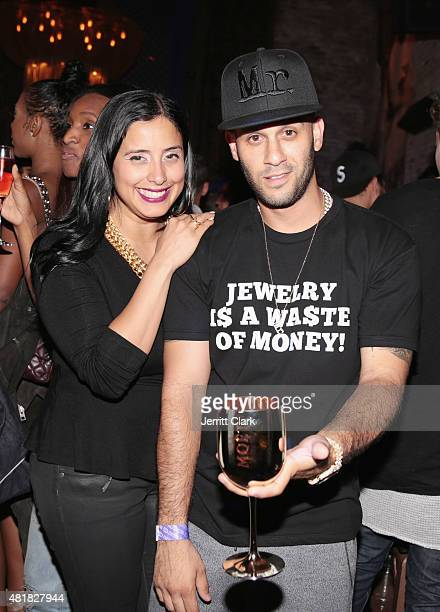 Laura Stylez and Mr Flawless attend Vashtie's Dumb Late Birthday Party at TAO Downtown on July 23 2015 in New York City
