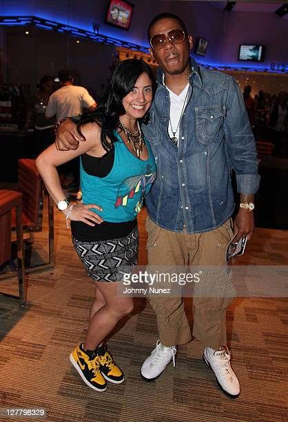 Laura Stylez and rapper Vado attend Hot 97 Summer Jam 2011 at the New Meadowlands Stadium on June 5 2011 in East Rutherford New Jersey