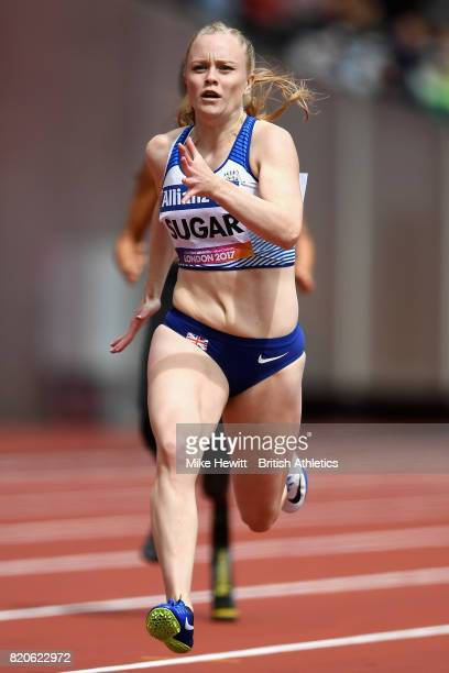 Laura Sugar of Great Britain competes in round one heat one of the Womens 200m T44 during day nine of the IPC World ParaAthletics Championships 2017...