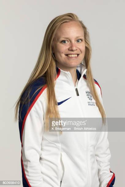 Laura Sugar of Great Britain poses for a portrait during the British Athletics World Para Athletics Championships Squad Photo call on June 25 2017 in...