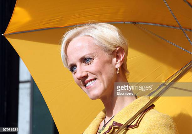 Laura Tenison, founder and managing director of JoJo Maman Bebe, poses for a photograph at the Veuve Clicquot Awards in London, U.K., on Tuesday,...