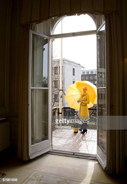 Laura Tenison, founder and managing director of JoJo Maman Bebe, poses for a photograph at the Veuve Clicquot Award in London, U.K., on Tuesday,...