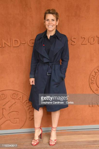 Laura Tenoudji, a.k.a Laura du web attends the 2019 French Tennis Open - Day Two at Roland Garros on May 27, 2019 in Paris, France.