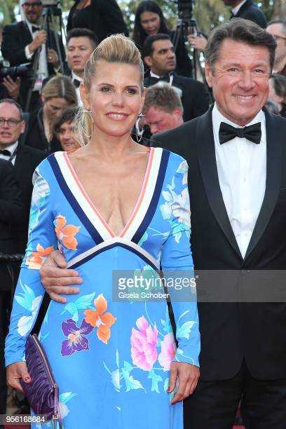 Laura Tenoudji and Christian Estrosi attend the screening of Everybody Knows and the opening gala during the 71st annual Cannes Film Festival at...