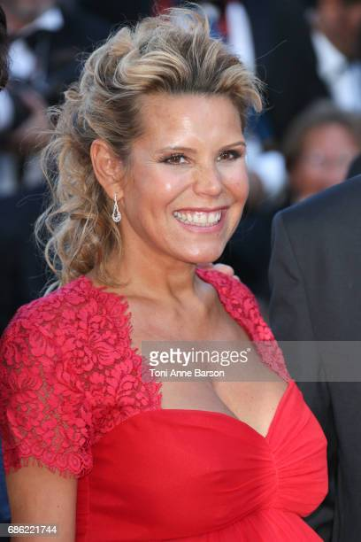 Laura Tenoudji attends the Ismael's Ghosts screening and Opening Gala during the 70th annual Cannes Film Festival at Palais des Festivals on May 17...