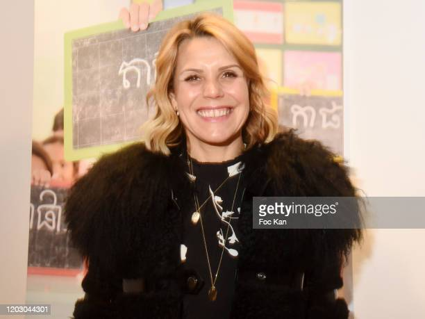 "Laura Tenoudji attends the ""Levons Le Doigt Pour L'Education des Filles"" Closing Conference At ""We Are"" on January 30, 2020 in Paris, France."