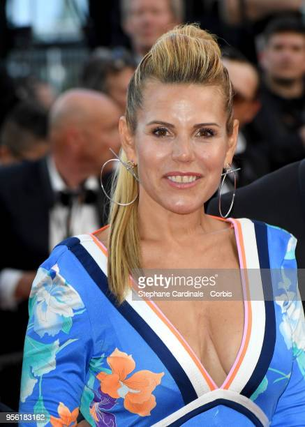 Laura Tenoudji attends the screening of Everybody Knows and the opening gala during the 71st annual Cannes Film Festival at Palais des Festivals on...