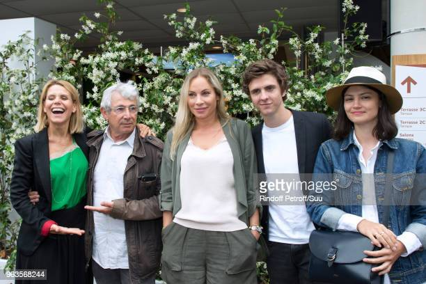 Laura Tenoudji Michel Boujenah Charlotte Bouteloup Thomas Soliveres and his companion Lucie Boujenah attend the 2018 French Open Day Three at Roland...