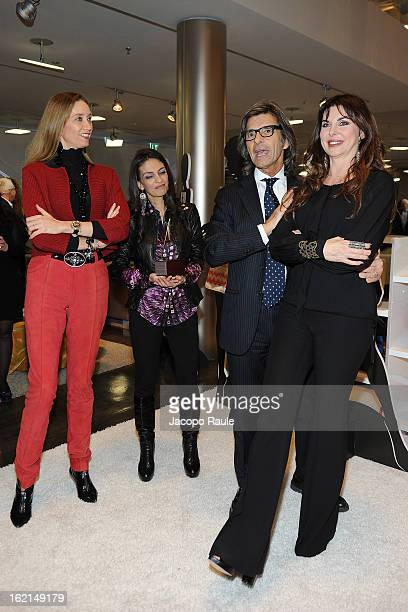 Laura Teso Alessandra Moschillo Roberto Alessi and Alba Parietti attend 50th Anniversary 'Minigonna' Celebration during MFW F/W 2013 on February 19...