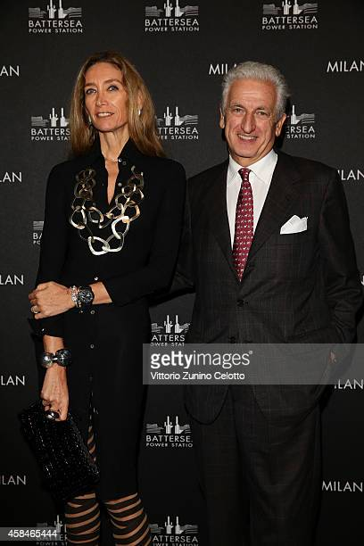 Laura Teso and Adriano Teso attends the Battersea Power Station launch party to celebrate the launch of its Global Tour at Magna Pars Suites on...